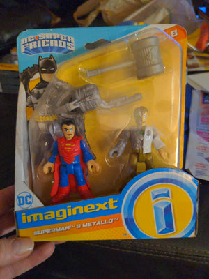 Imaginext DC Super Friends Superman & Metallo SEALED 2 Piece Toy Set
