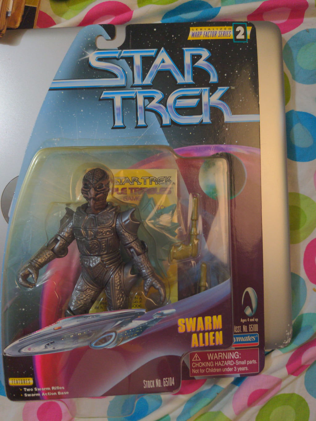 1997 Playmates Star Trek Warp Factor 2 SEALED Swarm Alien #65100 Figure NEW