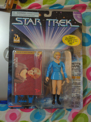 1996 Playmates Star Trek Christine Chapel Sickbay Nurse with Card NEW SEALED