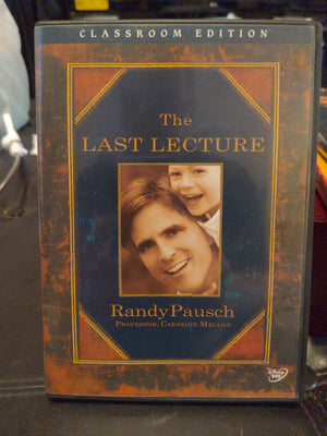 Walt Disney DVD - The Last Lecture Classroom Edition Randy Pausch