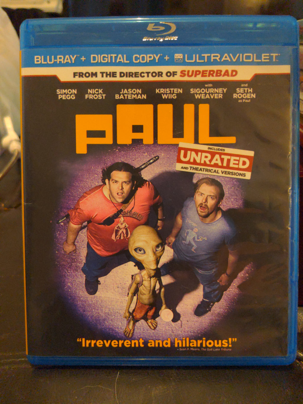 Paul Unrated & Theatrical Versions Blu-Ray DVD - Simon Pegg Nick Frost Jason Bateman