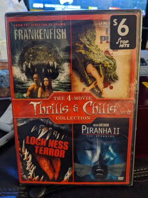 4 Movie Thrills & Chills Collection Vol 6 NEW DVD - Frankenfish - Piranha II & More