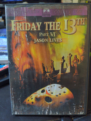 Friday The 13th Part VI Jason Lives Paramount Horror DVD Jason Vorhees