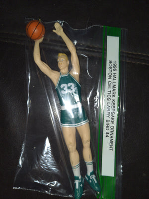 1996 Hallmark Keepsake Ornament Boston Celtics Basketball Larry Bird Figure #33