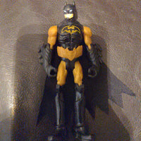 "2013 4"" Black and Gold Batman Action Figure with Cloth Cape"