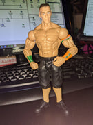 2013 Mattel WWE Wrestling Basic Black & Orange John Cena Shorts Version