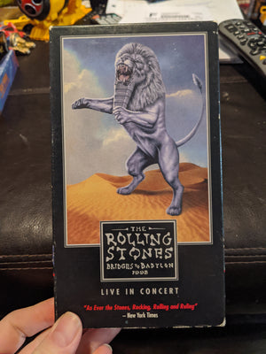 1998 Rolling Stones Bridges To Babylon Live In Concert Music VHS Tape Mick Jagger