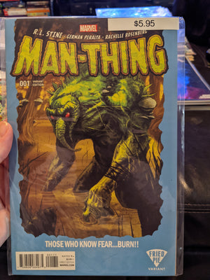 Man-Thing #1 Fried Pie Variant Exclusive Kalman Andrasofszky Cover (vol. 5 2017)