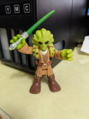 2012 Hasbro Playskool Galactic Star Wars Heroes Jedi Kit Fisto Black Eyes Version