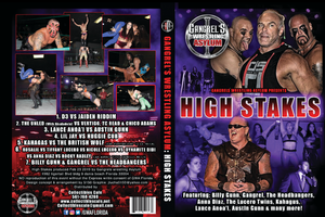 Wrestling: GWA Gangrel Wrestling Asylum High Stakes Show DVD or Blu Ray