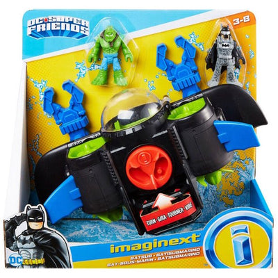 Imaginext DC Super Friends Batsub with Batman & Killer Croc Figures