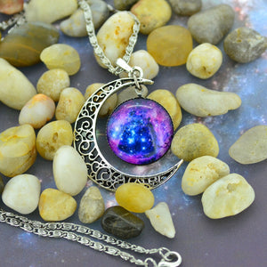 Moon Time Necklace Sweater Chain Pendant Jewelry