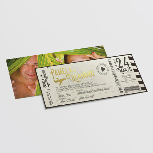 Invitación Ticket Embarque