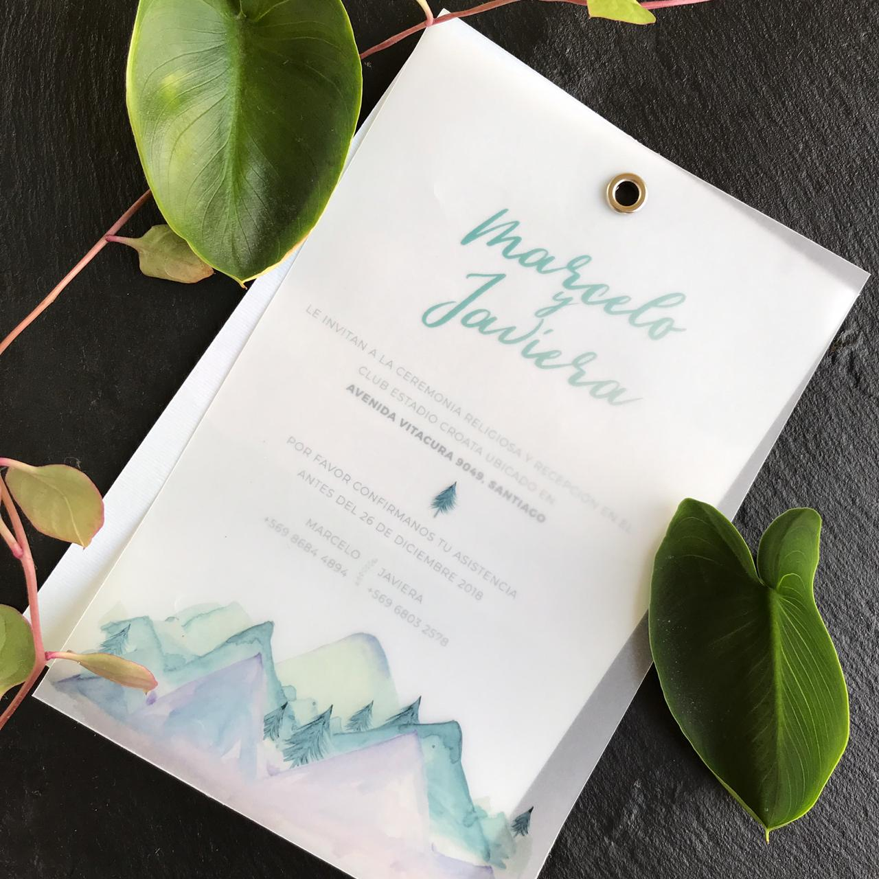 Invitación Vellum Forest