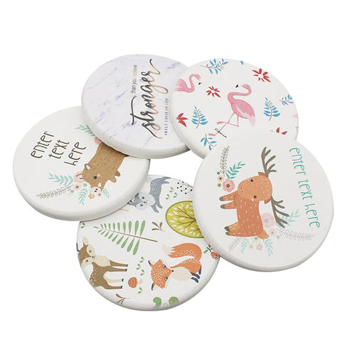 Round Clay Coasters