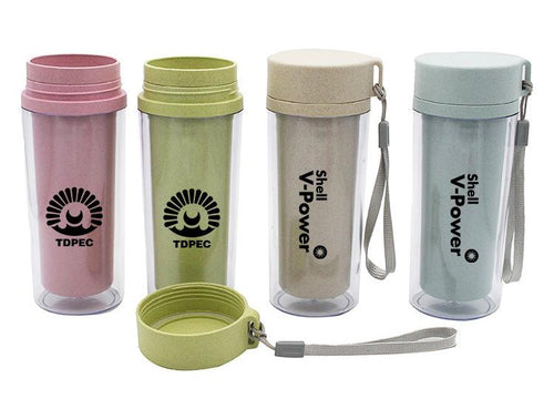 Portable Clear Insulated Water Bottle
