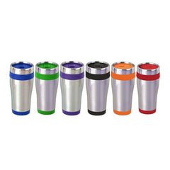 Stainless Steel Drinking Bottle With Coloured Base And Lid