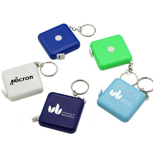 Square Keychain With Tape Measure