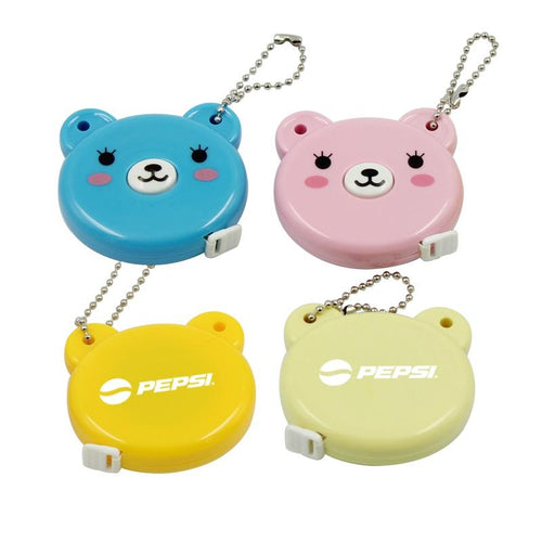 Bear Keychain With Tape Measure