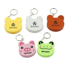 Cartoon Animal Keychain With Tape Measure