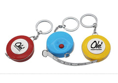 Mini Round Keychain With Tape Measure