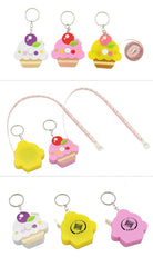 Cupcake Keychain With Tape Measure