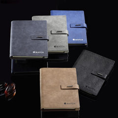Pu Leather Cover Notebook With Metal Buckle
