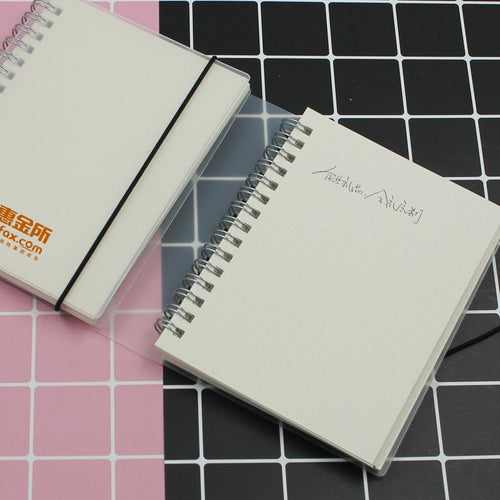 A5 Notebook With Clear Cover And Dot Grid Pages