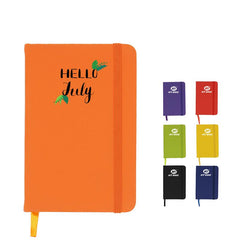 A6 Notebook with Elastic Band and Ribbon Bookmark
