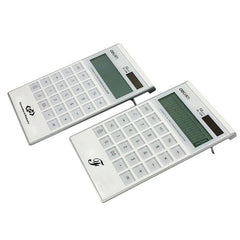 White Solar Powered Calculator