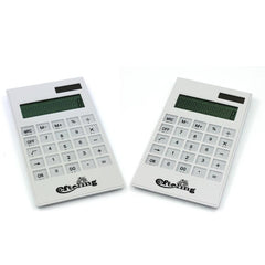 White Office Calculator With Clear Buttons