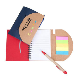 Kraft Paper Notebook Set With Mathematical Symbol Design
