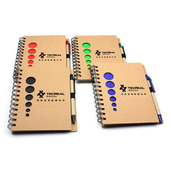 Notebook Set With Circle Cutouts On Kraft Paper Cover