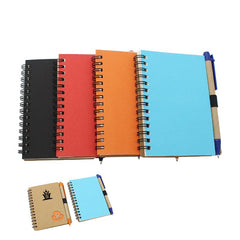 Notebook With Recycling Symbol On Cover