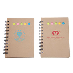 Eco-Friendly Kraft Paper Notebook And Sticky Notes Set
