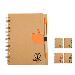 Eco-Friendly Notebook With Thumbs Up Design