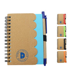 Eco-Friendly Notebook With Scallop Edge