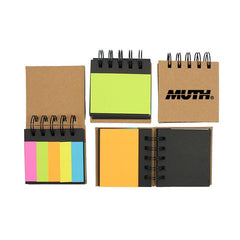Spiral-Bound Sticky Notes Set