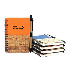 Spiral-bound Notebook with Wood Grain Design