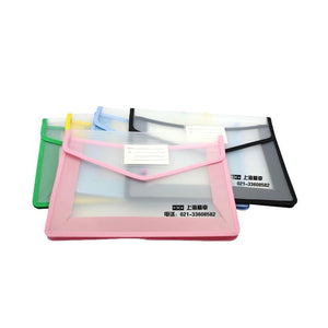 A4 Clear Document Pouch With Coloured Edge