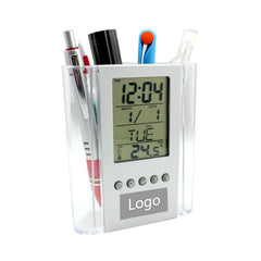 Electronic Calendar And Pen Holder