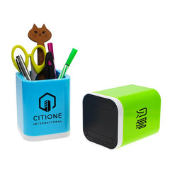 Coloured Square Pen Holder