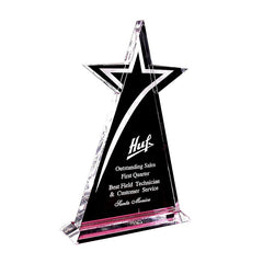 Shooting Star Crystal Trophy