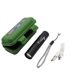 USB-Rechargeable Torch Light with Case