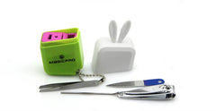 4-Piece Manicure Set In Case With Rabbit Ears