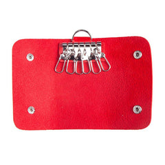 Faux Leather Key Holder Pouch