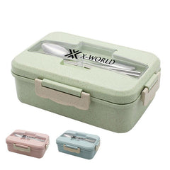Lunch Box with Dividers and Cutlery Holder