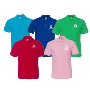 Short-Sleeved Pure Cotton Polo Shirt