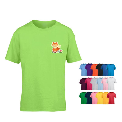 Kids Short-Sleeved Cotton Round Neck T-Shirt