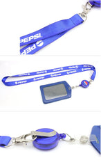 Work Lanyard And Id Card Holder Set With Retractable Reel